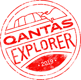 Qantas Explorer Stamp